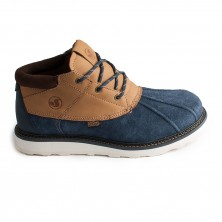 Hawthorne-navy/brown suede