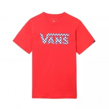 Classic Logo Fill Boys - Racing Red / Checkerboard