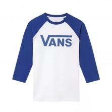 Vans Classic Raglan Boys - White / Sodalite Blue