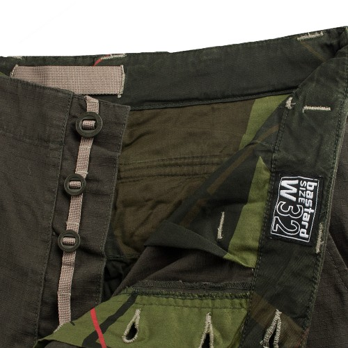 bastard Cargo pants - button fly detail