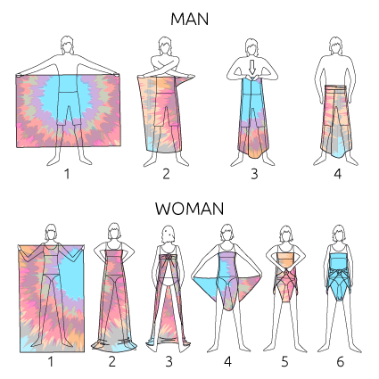 Sarong wearing instructions